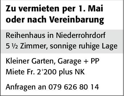 Haus, Niederrohrdorf, zu vermieten