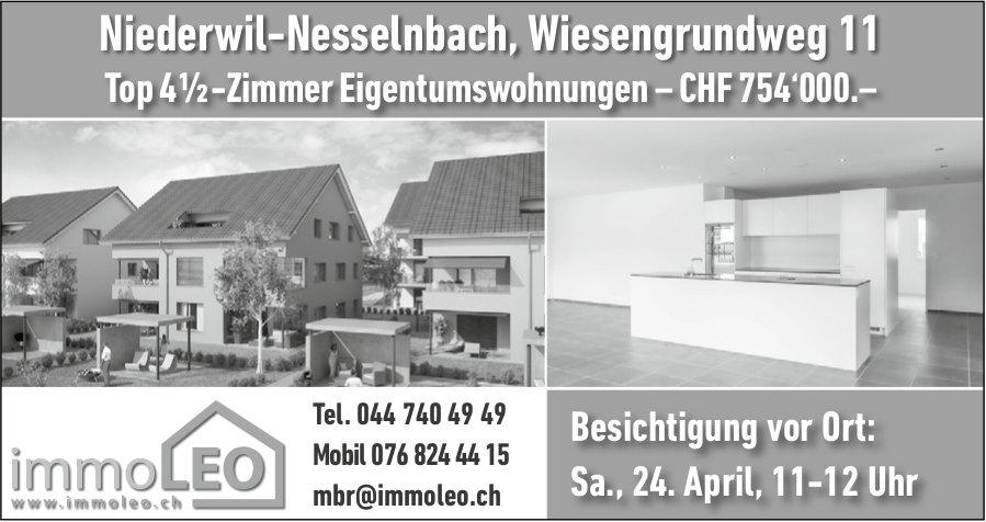 4½-Zimmer-Wohnungen, Niederwil-Nesselnbach, zu verkaufen