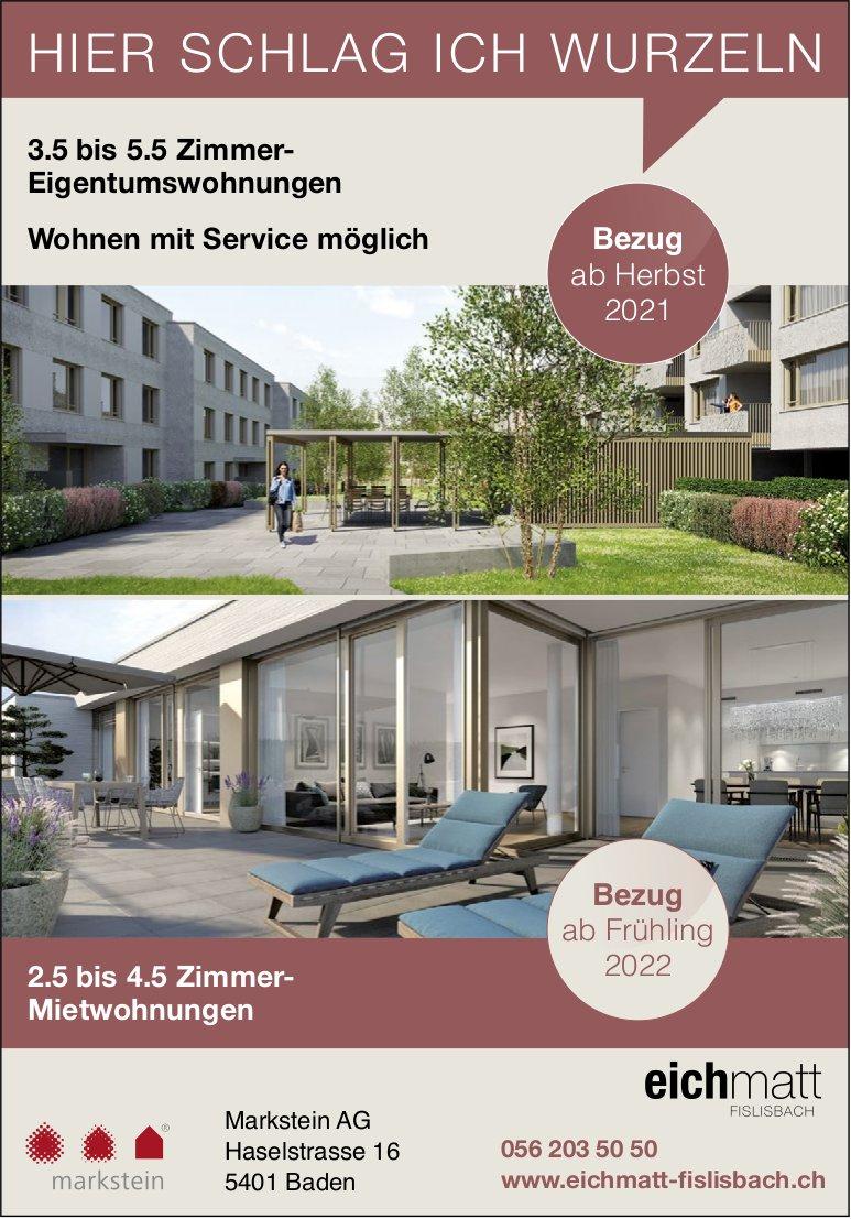 2½ bis 5½ Zimmer-Wohnungen, Baden, zu verkaufen und zu vermieten