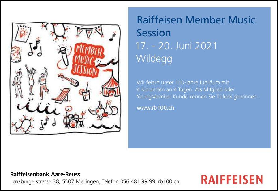 Raiffeisen Member Music Session, 17. bis 20. Juni, Wildegg, Mellingen