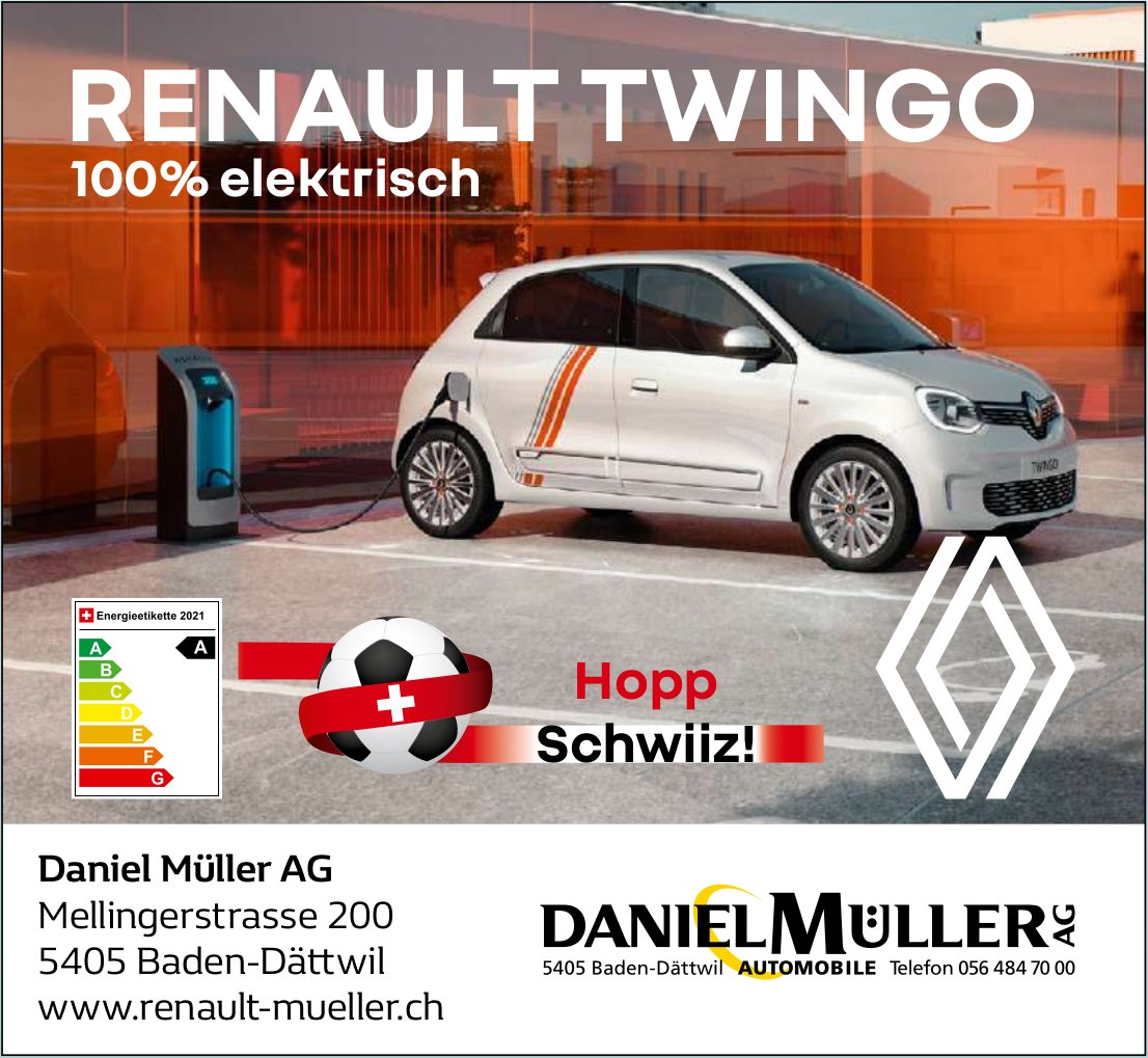 Daniel Müller AG, RENAULT TWINGO 100% elektrisch