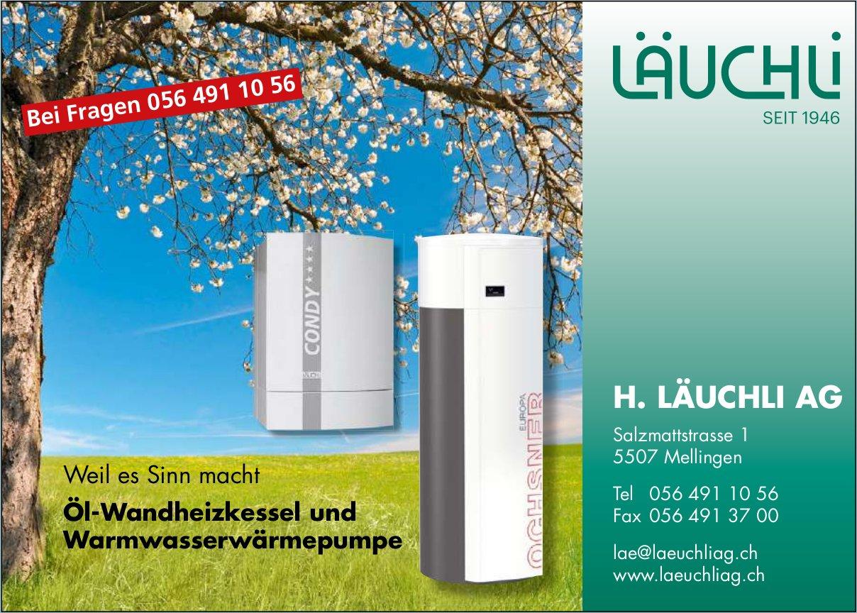 H. Läuchli AG, Mellingen - Öl-Wandheizkessel und Warmwasserwärmepumpe