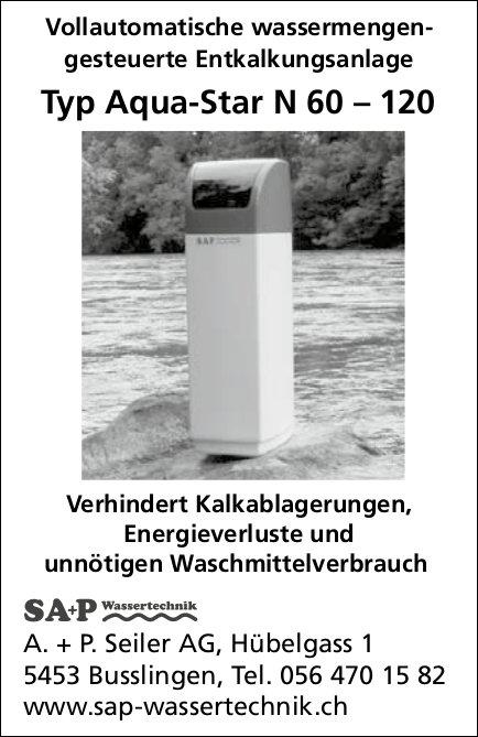 A. + P. Seiler AG, Busslingen - Vollautomatische wassermengengesteuerte Entkalkungsanlage
