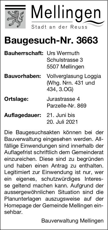 Baugesuche, Mellingen - Baugesuch-Nr. 3663
