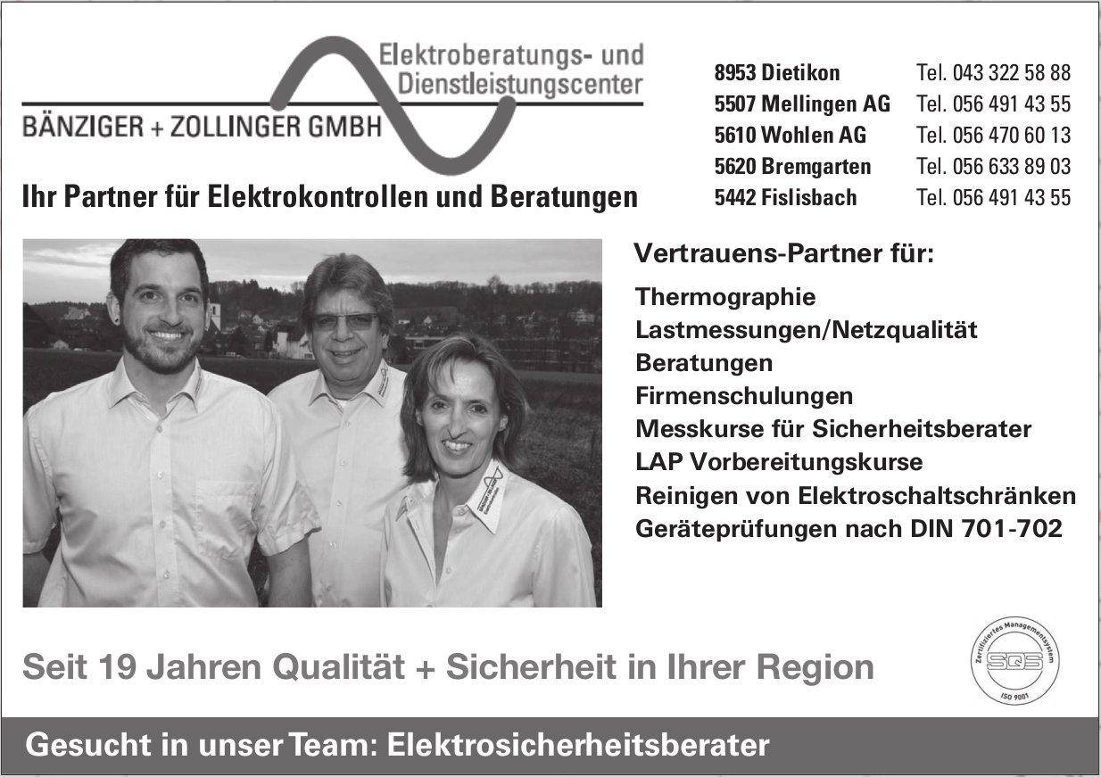 Bänziger + Zollinger GmbH, Dietikon - Ihr Partner für Elektrokontrollen und Beratungen
