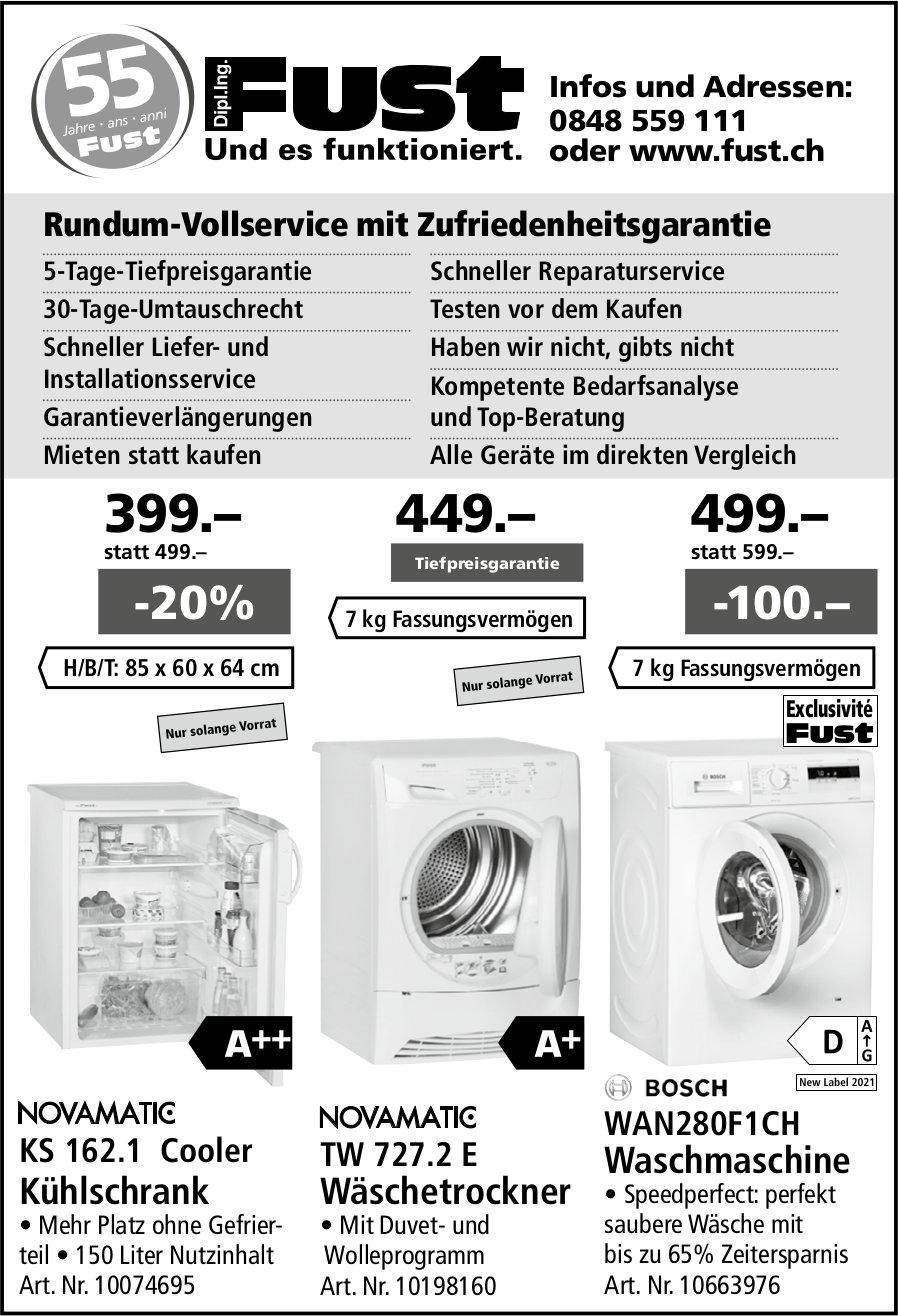 Dipl. Ing. Fust AG, Rundum-Vollservice mit Zufriedenheitsgarantie