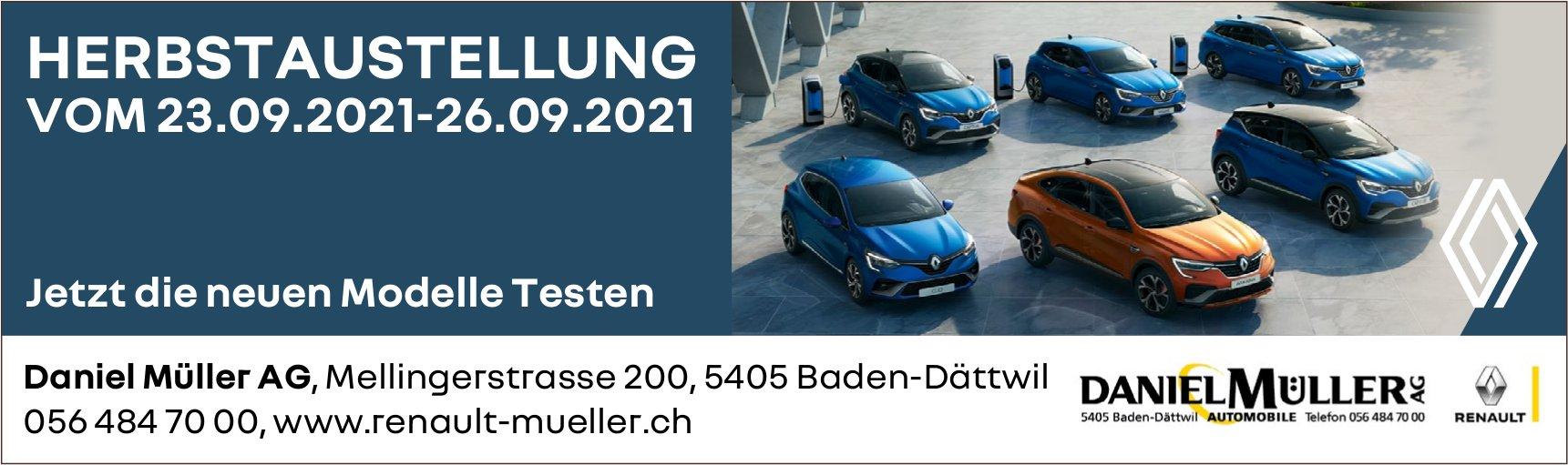 Herbstaustellung, 23. bis 26. September, Daniel Müller AG, Baden-Dättwil