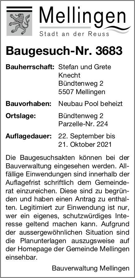 Baugesuche, Mellingen - Stefan und Grete Knecht, Baugesuch-Nr. 3683