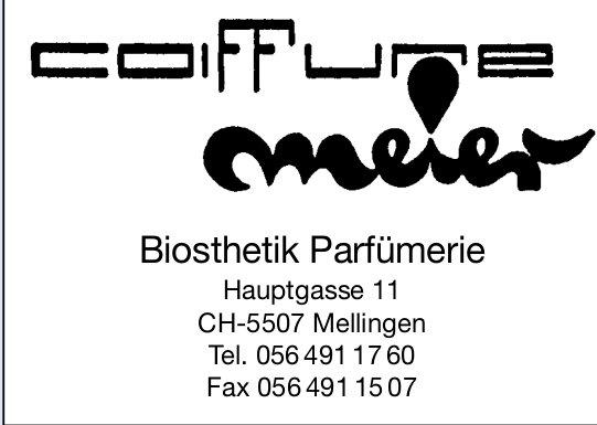 Coiffure Meier,  Mellingen - Biosthetik Parfümerie