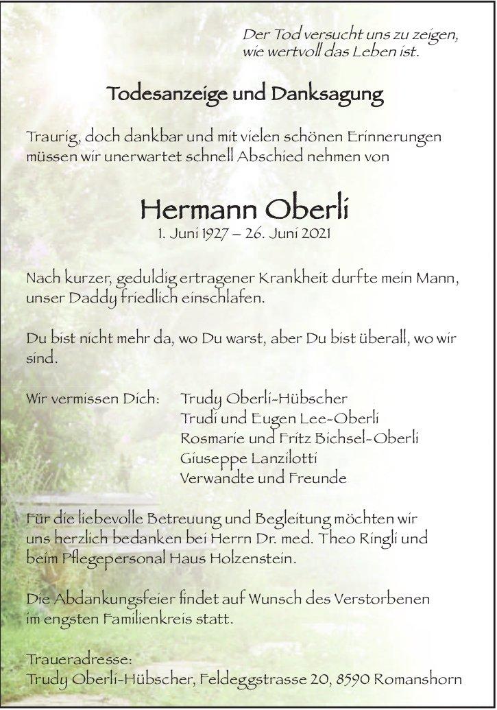 Hermann Oberli , Juni 2021, TA+DS