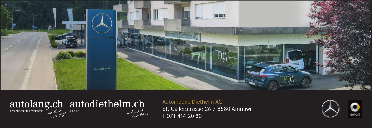 Automobile Diethelm AG, Amriswil - Automobile Diethelm AG St. Gallerstrasse 26 / 8580 Amriswil T 071 414 20 80