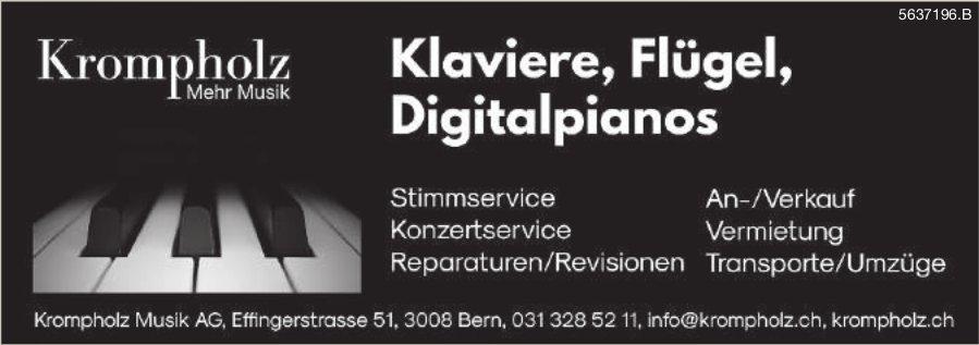 Krompholz Musik AG, Bern - Klaviere, Flügel, Digitalpianos