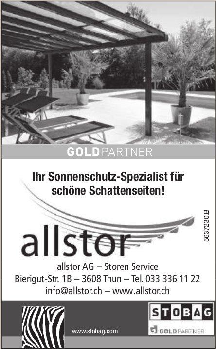Allstor AG, Thun - Ihr Sonnenschutz-Spezialist für schöne Schattenseiten!