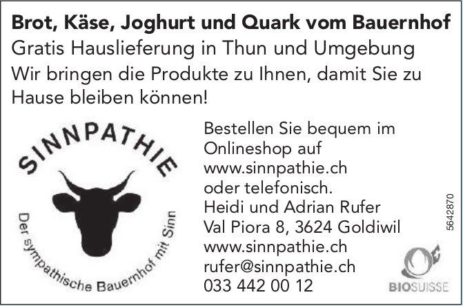 SINNPATHIE, Goldiwil - Brot,  Käse,  Joghurt und Quark vom Bauernhof