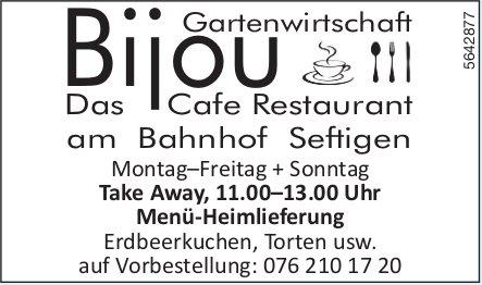 Gartenwirtschaft Bijou, Seftigen - Das Cafe Restaurant am Bahnhof Seftigen
