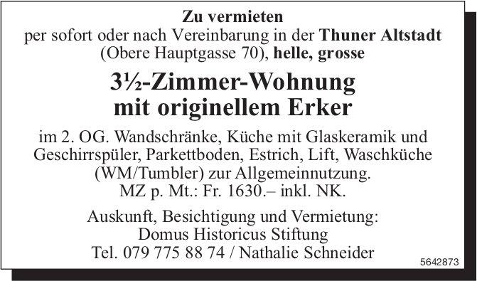 3½-Zimmer-Wohnung mit originellem Erker in der Thuner Altstadt zu vermieten