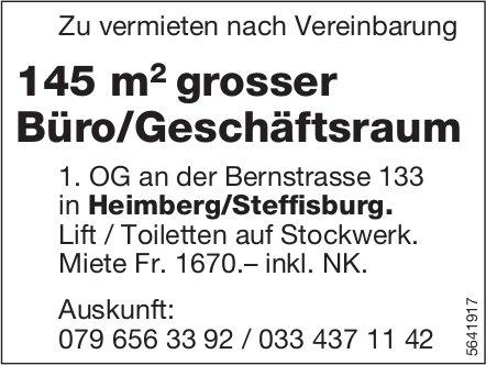 145 m2 grosser Büro/Geschäftsraum in Heimberg/Steffisburg zu vermieten