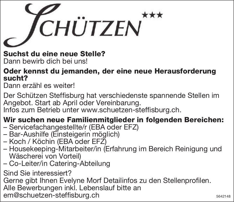 Neue Familienmitglieder, Schützen, Steffisburg, gesucht
