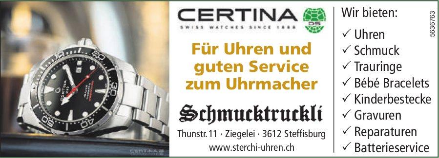 Schmucktruckli, Steffisburg - Für Uhren und guten Service zum Uhrmacher
