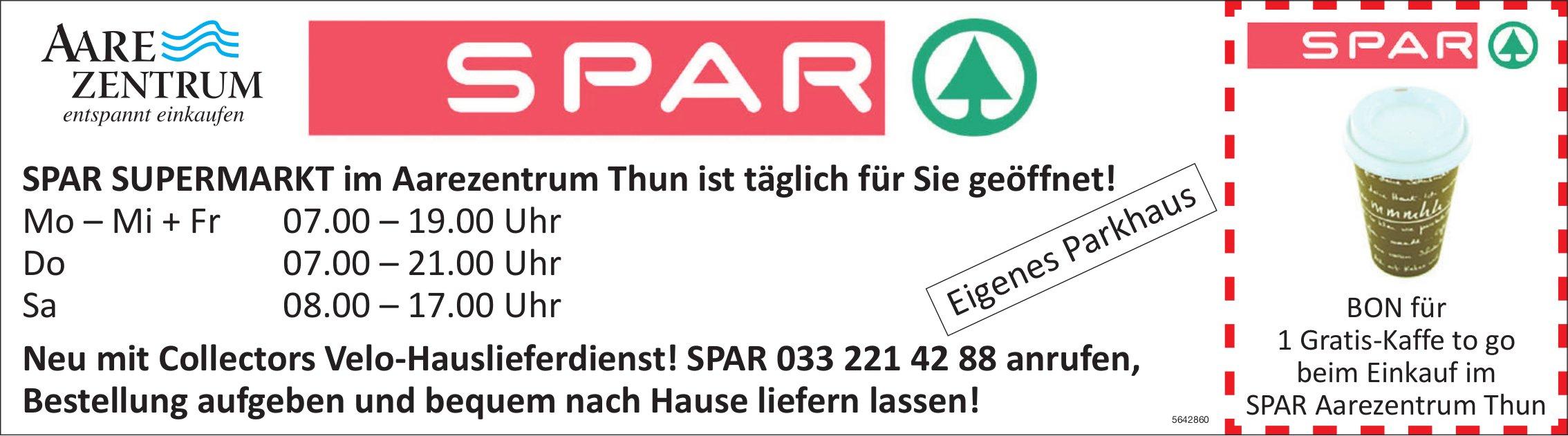 Thun - SPAR SUPERMARKT im Aarezentrum Thun ist täglich für Sie geöffnet!