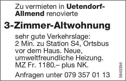 3-Zimmer-Altwohnung, Uetendorf-Allmend, zu vermieten