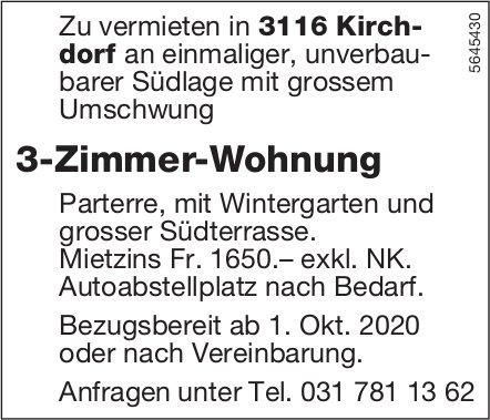 3-Zimmer-Wohnung, Kirchdorf, zu vermieten