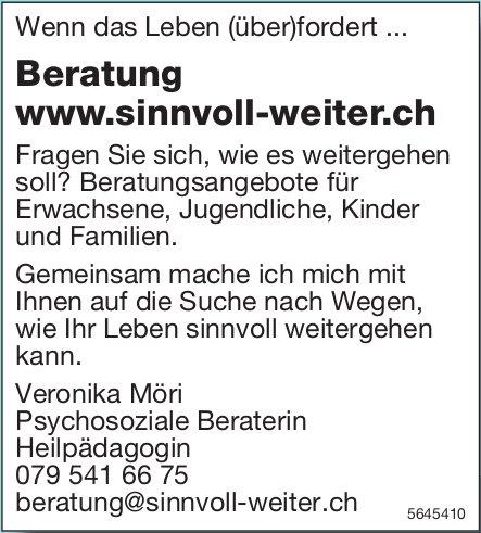 Veronika Möri - Wenn das Leben (über)fordert ... Beratung www.sinnvoll-weiter.ch