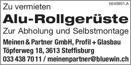 Meinen & Partner GmbH, Steffisburg - Alu-Rollgerüste
