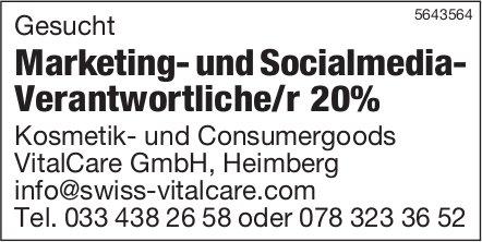 Marketing- und Socialmedia- Verantwortliche/r 20%, VitalCare GmbH, Heimberg,  gesucht