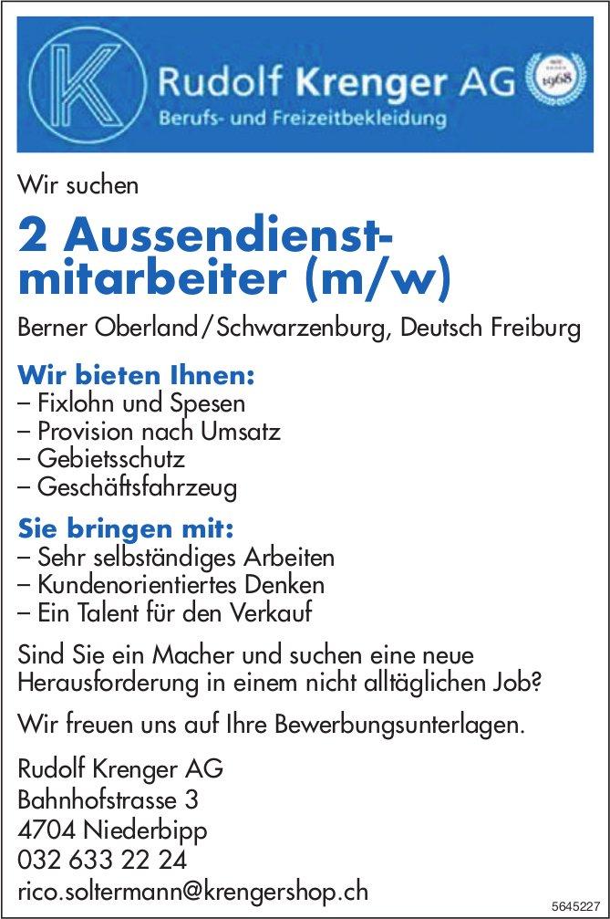 2 Aussendienstmitarbeiter (m/w), Rudolf Krenger AG,  Niederbipp, gesucht