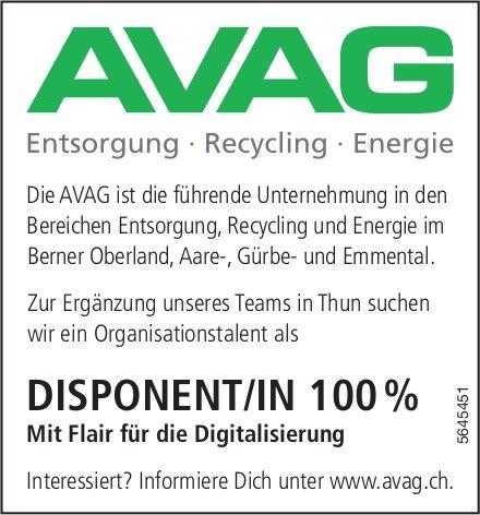 DISPONENT/IN 100 %, AVAG, Berner Oberland, Aare-,  Gürbe- und Emmental,  gesucht
