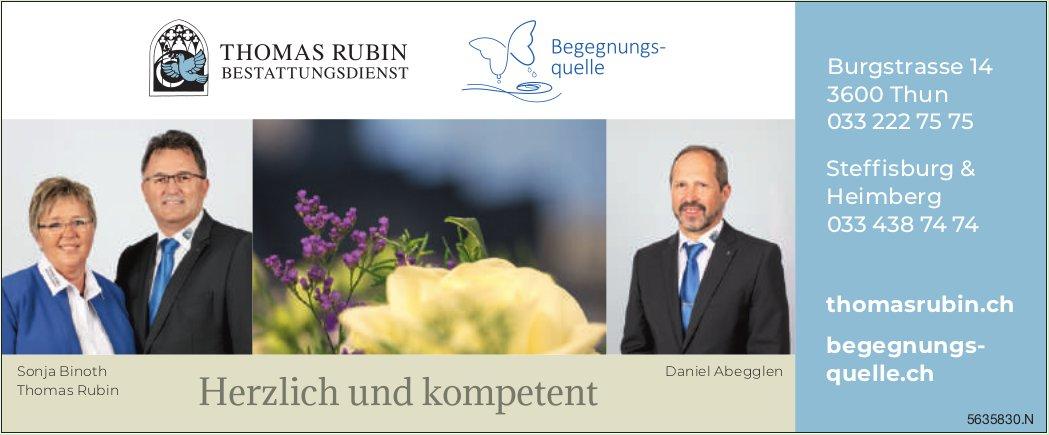 THOMAS RUBIN BESTATTUNGSDIENST, Thun - Herzlich und kompetent