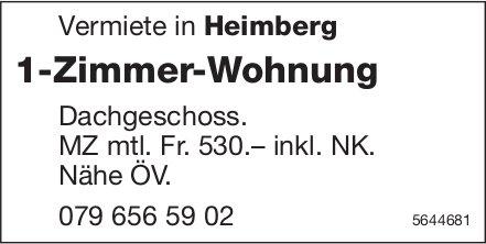 1-Zimmer-Wohnung, Heimberg, zu verkaufen