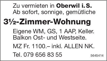 3½-Zimmer-Wohnung, Oberwil i.S., zu vermieten