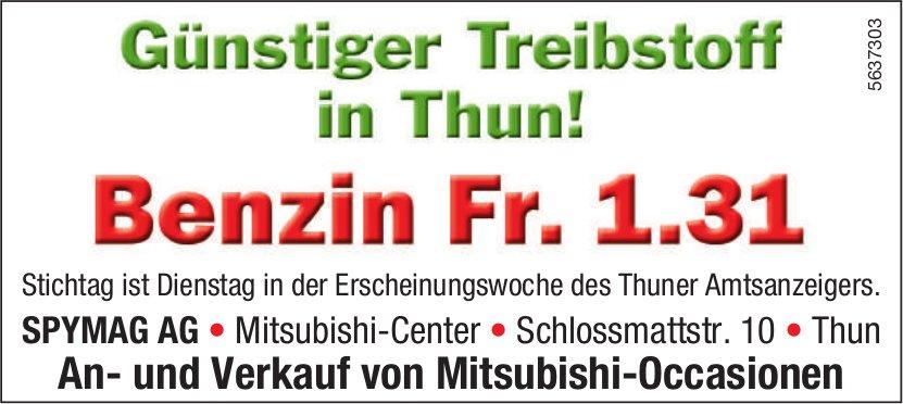 SPYMAG AG - Günstiger Treibstoff in Thun! Benzin Fr. 1.31