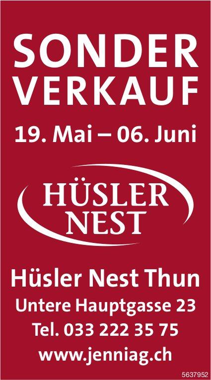 SONDERVERKAUF, 19. Mai - 6. Juni, Hüsler Nest, Thun