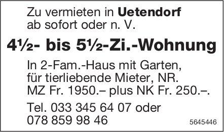 4½- bis 5½-Zi.-Wohnung, Uetendorf, zu vermieten