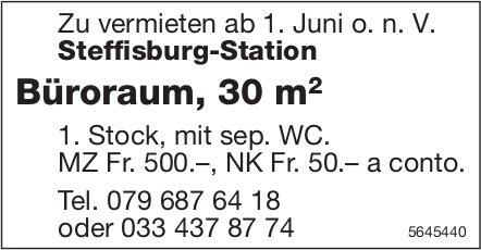 Büroraum, 30 m2, Steffisburg-Station, zu vermieten