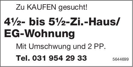 4½- bis 5½-Zi.-Haus/ EG-Wohnung, zu kaufen gesucht