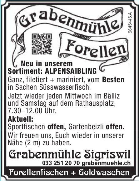 Grabenmühle Sigriswil - Forellenfischen + Goldwaschen