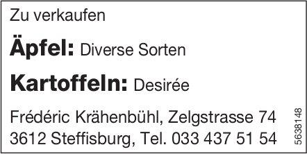 Frederic Krähenbühl, Steffisburg - Äpfel + Kartoffeln zu verkaufen
