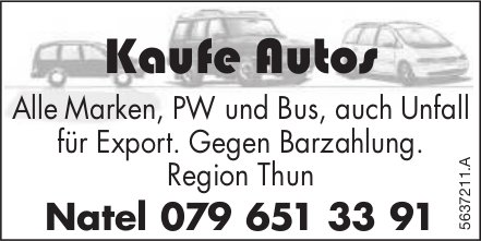 Region Thun - Kaufe Autos