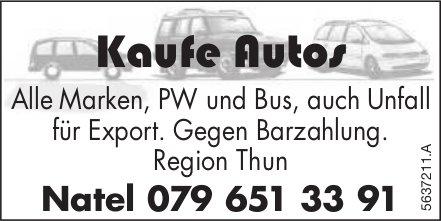 Region Thun - Kaufe Autos