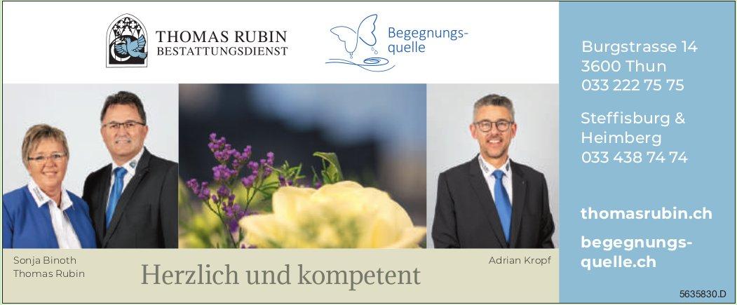 Thomas Rubin Bestattungsdienst - Herzlich und kompetent