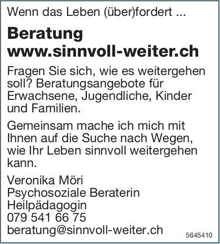 Beratung www.sinnvoll-weiter.ch - Wenn das Leben (über)fordert ...