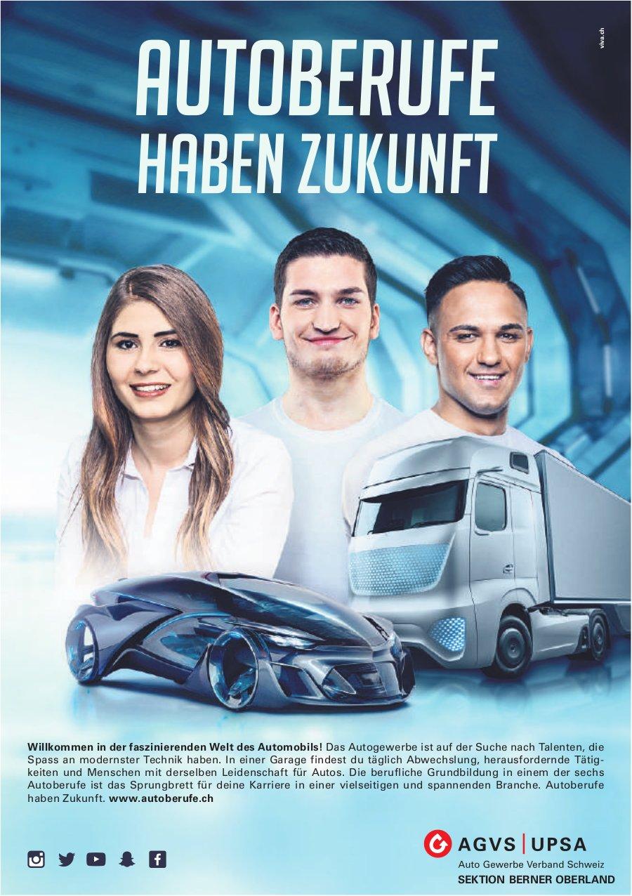 AGVS/UPSA, AUTOBERUFE HABEN ZUKUNFT
