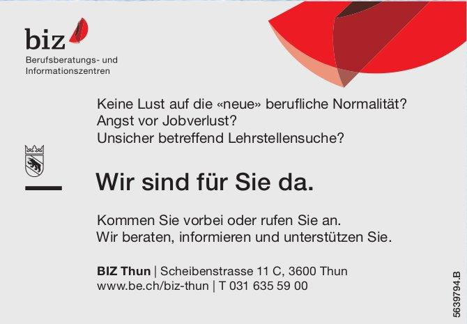BIZ Thun - Wir sind für Sie da.