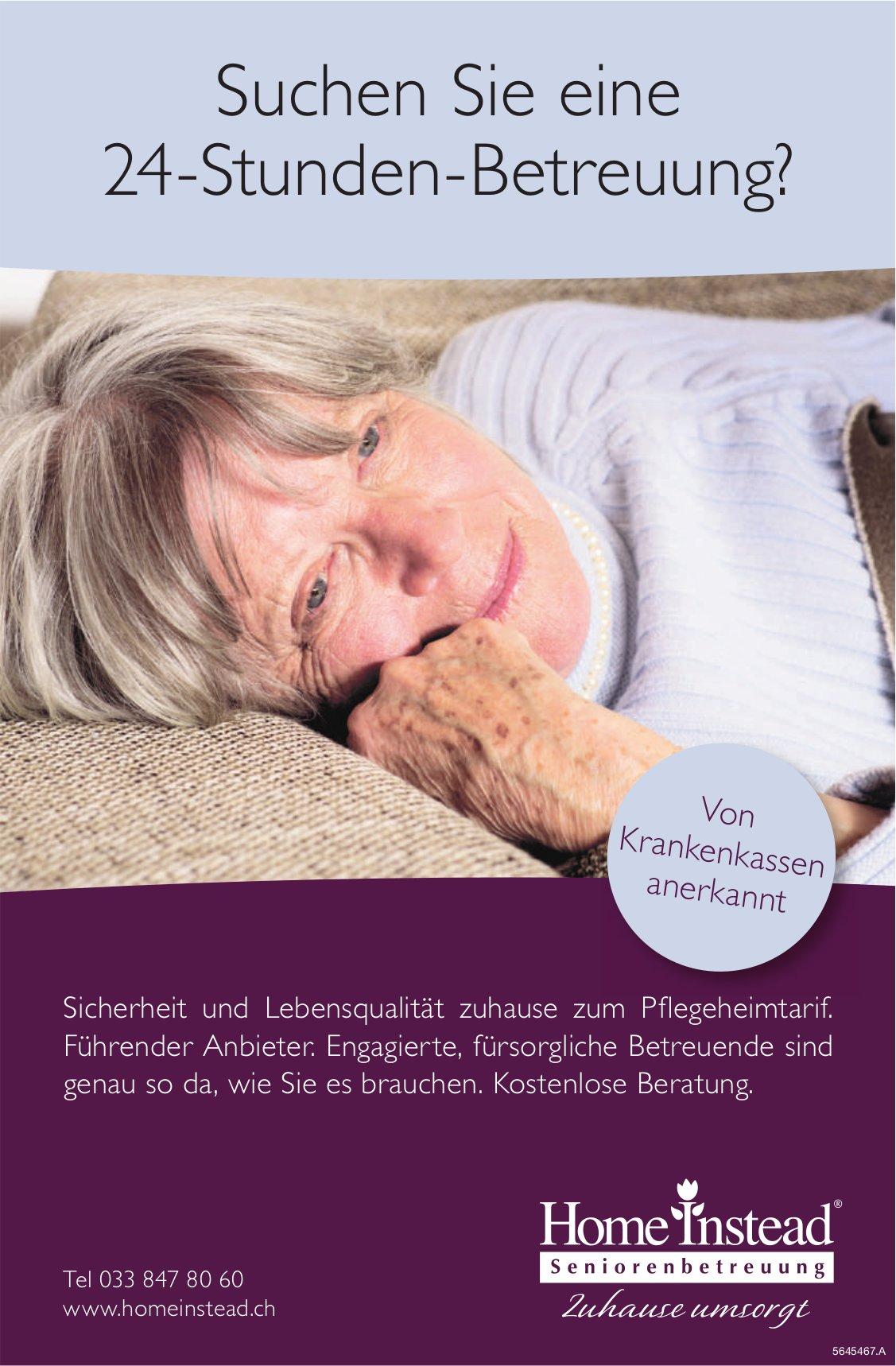 Home Instead Seniorenbetreuung - Suchen Sie eine 24-Stunden-Betreuung?