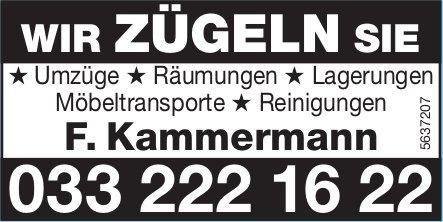 F. Kammermann - Wir zügeln Sie
