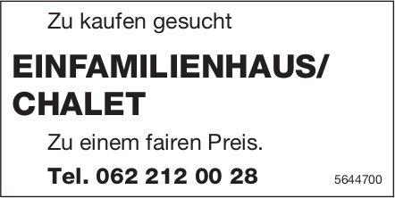 Einfamilienhaus/ Chalet, zu kaufen gesucht